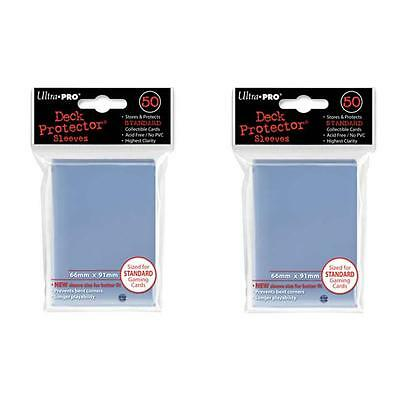 Ultra Pro Card Sleeves 2x(50) - Deck Protector Standard Size - Clear