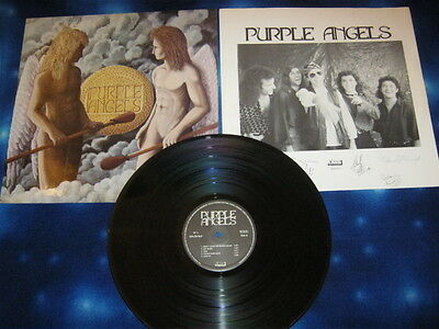 Purple Angels Lp Omonimo 33 giri Gruppo Rock Heavy Metal Italiano
