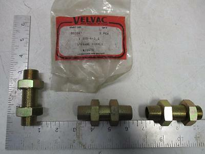 "VELVAC 002041 3"" Frame Nipple w/Nuts (55B-6-3) (Lot of 3)"
