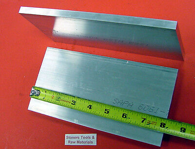 """2 Pieces 3/4"""" X 6"""" ALUMINUM 6061 FLAT BAR 8"""" long T6511 Solid Plate Mill Stock"""