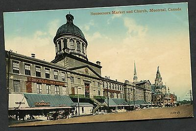 C1910 View of Bonsecours Market & Church, Montreal, Canada