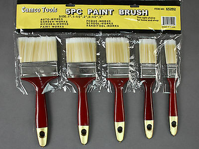 Camco 5pc Polyester Paint Brush  All Purpose