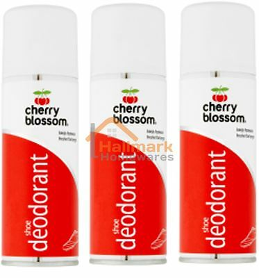 3 x Cherry Blossom Shoe Deodorant Spray 200ml - Prevents & Treats Odours