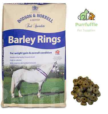 15Kg Dodson & Horrell Barley Rings / Mash Horse Food Feed With Linseed & Calcium