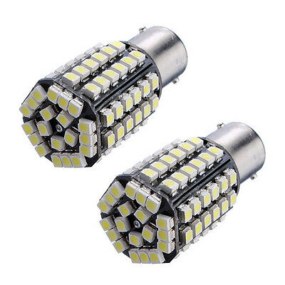 2 X Voiture 1156 382 BA15S P21W 80 SMD LED Xenon Blanc Frein Signal Lampe WT