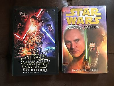 LOT of 2 Star Wars Hardcover Books The Force Awakens & Cloak of Deception