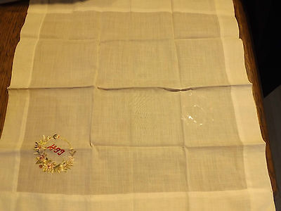 ANTIQUE COTTON HANDKERCHIEF VICTORIAN 1899 PARTY LIKE IT'S 1899 PRINCE Edward !