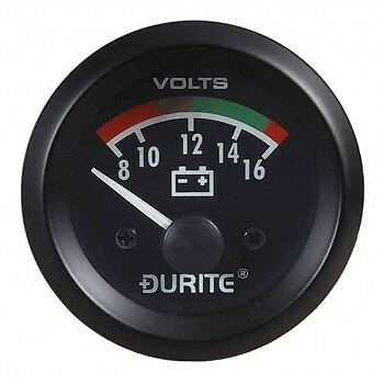 "Land Rover Series 1 2 2a 3 Dash Panel 2"" Auxiliary Voltmeter Illuminated Gauge"