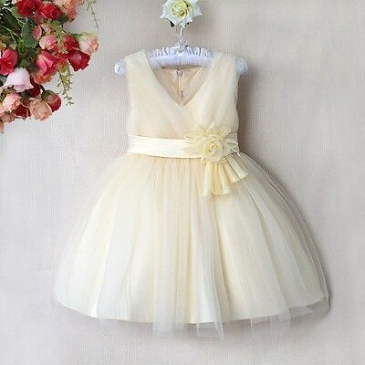 Fairy Princess Uk, Cream 'adonia' Party Bridesmaid Flower Girl Dress
