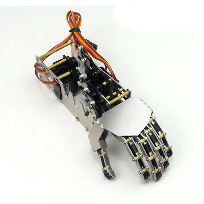 5 Fingers 5DOF Claw Manipulator Arm Left Hand w/ 5pcs Servos for Arduino Robot