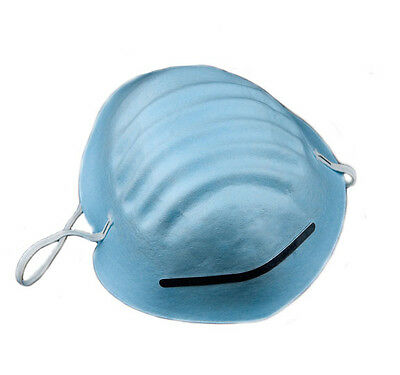 50 Surgical Medical Dental Industrial Face Masks Cone Style Blue Color NEW