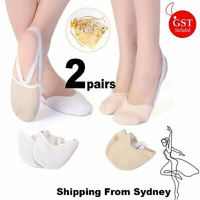 New Half Leather Sole Shoes Dance Ballet Jazz Toe Quality Ivoy White Soft Split