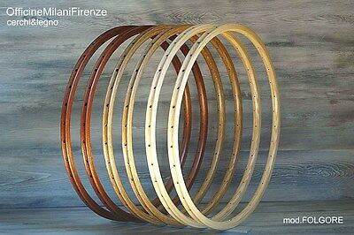 CERCHI IN LEGNO Officine Milani Firenze Vintage Single Speed WOODEN RIMS
