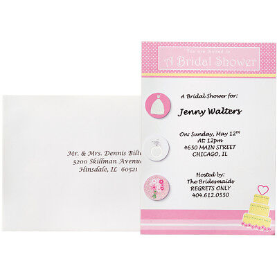 Invitation Kit Makes 12 Bridal Shower Fun 10081542