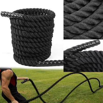 9/12/15M Battle Rope 38mm Battling Power Training Gym Fitness Exercise Bootcamp