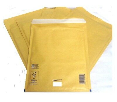 50 x Arofol Gold 230 x 340mm Size 7 G Bubble Padded Envelopes Mailing Bags