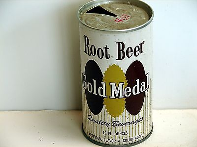 Gold Medal Root Beer; Gold Medal Beverage Co.; St. Paul, MN; steel soda pop can