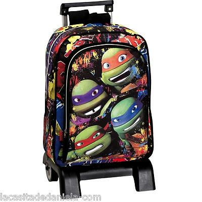 TORTUGAS NINJA Mochila con carro//Trolley backpack