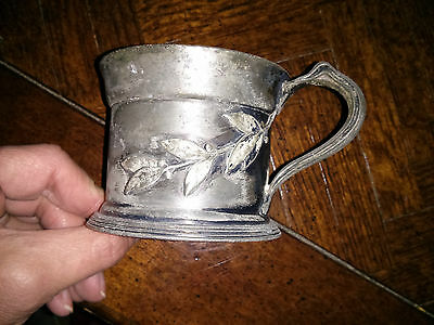 "A Rare 1870's Wallace Brothers Silver Plated Child Cup 3"" Cup diameter with  ha."