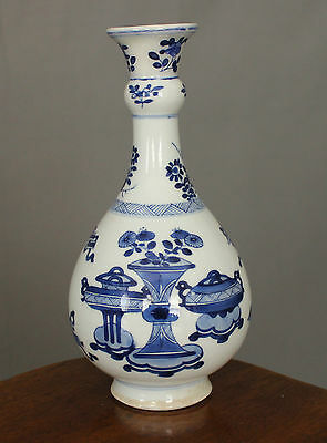 17 18th Century Chinese Blue & White Kangxi Bottle Vase