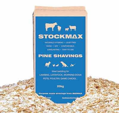 20Kg Pine Wood Shavings Naturally Antibacterial  Rabbits Guinea Pigs Chickens