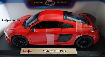 NEW MAISTO 1:18 Special Edition - Audi R8 V10 Plus in red RARE