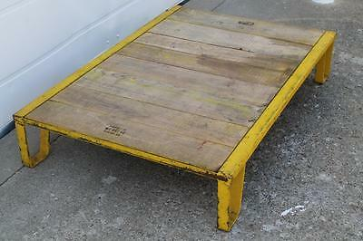 """Huge Lot (50) Antique 1940's Industrial Pallet 32"""" X 48"""" Wood Top Coffee Tables"""