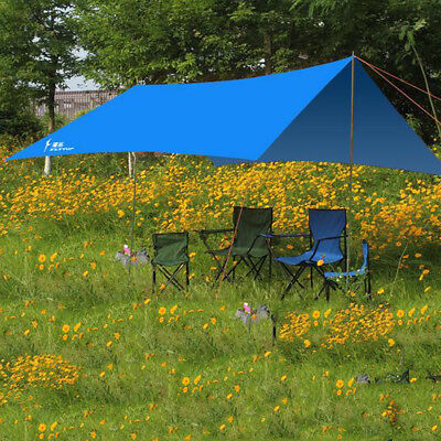 Heavy Duty Large Canopy Tarp Tent Rain Cover with Poles Stakes Guyline Ropes