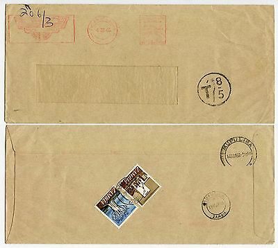 ZAMBIA POSTAGE DUE from SOUTH AFRICA METER FRANKING BROCKHOUSE 1968