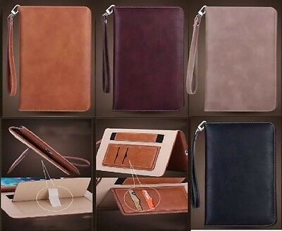 Genuine Soft Leather Smart Case Stand Magnetic Cover for APPLE iPad Air