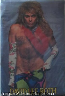David Lee Roth 23x35 Eat'em And Smile Stripping Poster 1986 Diamond Dave