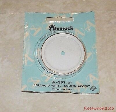 "Vintage Amerock Ceramoid White Gold Accent 2"" Heirloom Backplate"