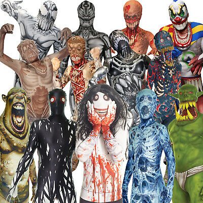 Morphsuit Monsters Kids Boys Girls Fancy Dress Costume Halloween Zombie Childs