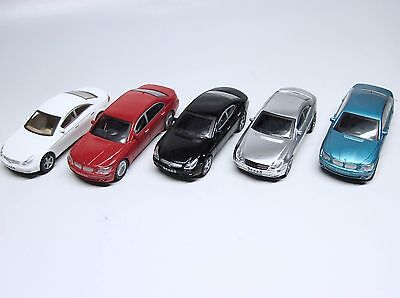 Lot of 5 O or S Scale Model Train Assorted Plastic Vehicles Cars