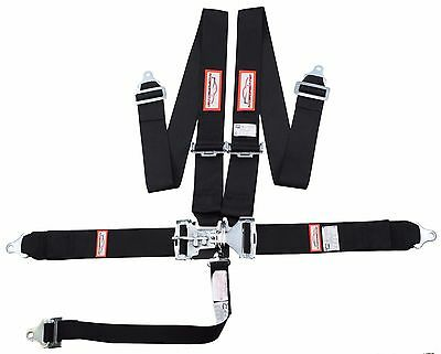 "Racerdirect.net 5 Point Sfi 16.1 Latch & Link 3"" Racing Belt Black Nascar"