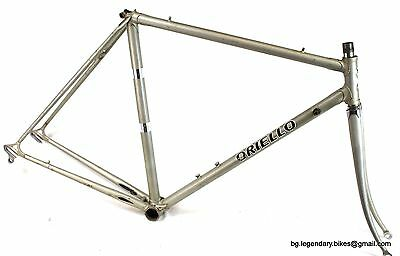 VINTAGE Race bike Oriello Italy Lugged Steel Campagnolo dropouts Frame set