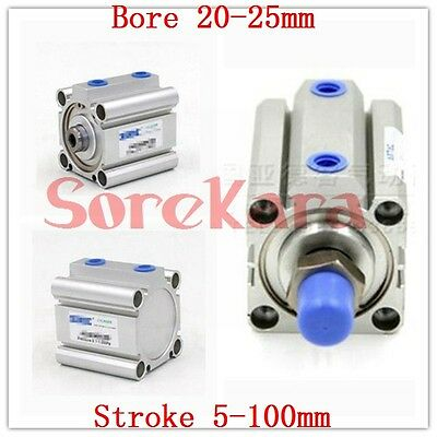 ACQ Bore 20-25mm Stroke 5-100mm Compact Air Cylinder Double Acting