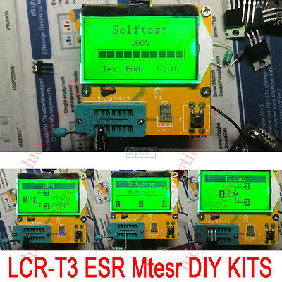 DIY LCR-T3 graphical multi-function tester capacitor +inductance + resistor +SCR