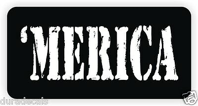 MERICA Hard Hat Sticker Decal Funny Label Welding Motorcycle Helmet America USA