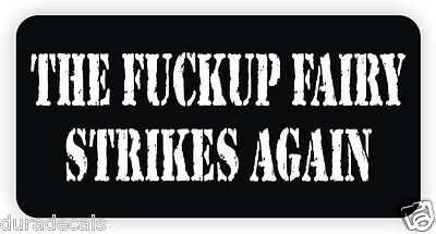 F*ckup Fairy Hard Hat Sticker / Decal Label Laborer Motorcycle Helmet Funny