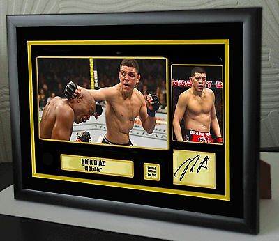 "Nick Diaz UFC canvas tribute signed Limited Edition ""Great Gift / Souvenir"""