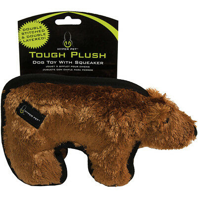 "Hyper Pet Tough Plush Animal 10"" Brown Bear HPTOUGH-50108"