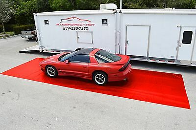 "Racerdirect.net New Racing Pit Mat Red 10' X 40"" Pitmat Track Mat"