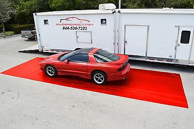 "Racerdirect.net New Racing Pit Mat Red 10' X 30"" Pitmat Track Mat"