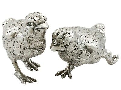 Antique Sterling Silver 'Chick' Pepperettes, George V
