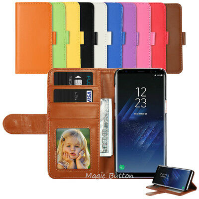 For Samsung Galaxy S9 S8 Plus S7 edge Wallet PU Leather Flip Case Card Cover