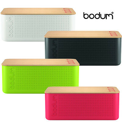Bodum Bistro Bread Bin With Bamboo Copping Board Storage Box