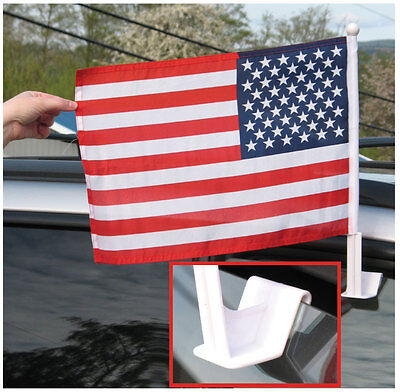 USA Car Window Flag Veterans Day American Stars n' Stripes Support Our US Troops