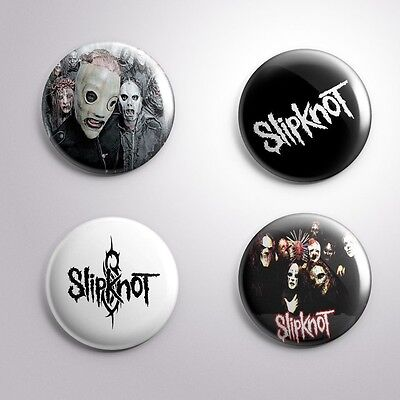 4 SLIPKNOT - Pinbacks Badge Button Pin 25mm 1''