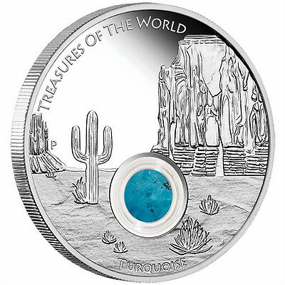 2015 Treasures of the World - North America 1 Oz Silver Proof Locket Coin